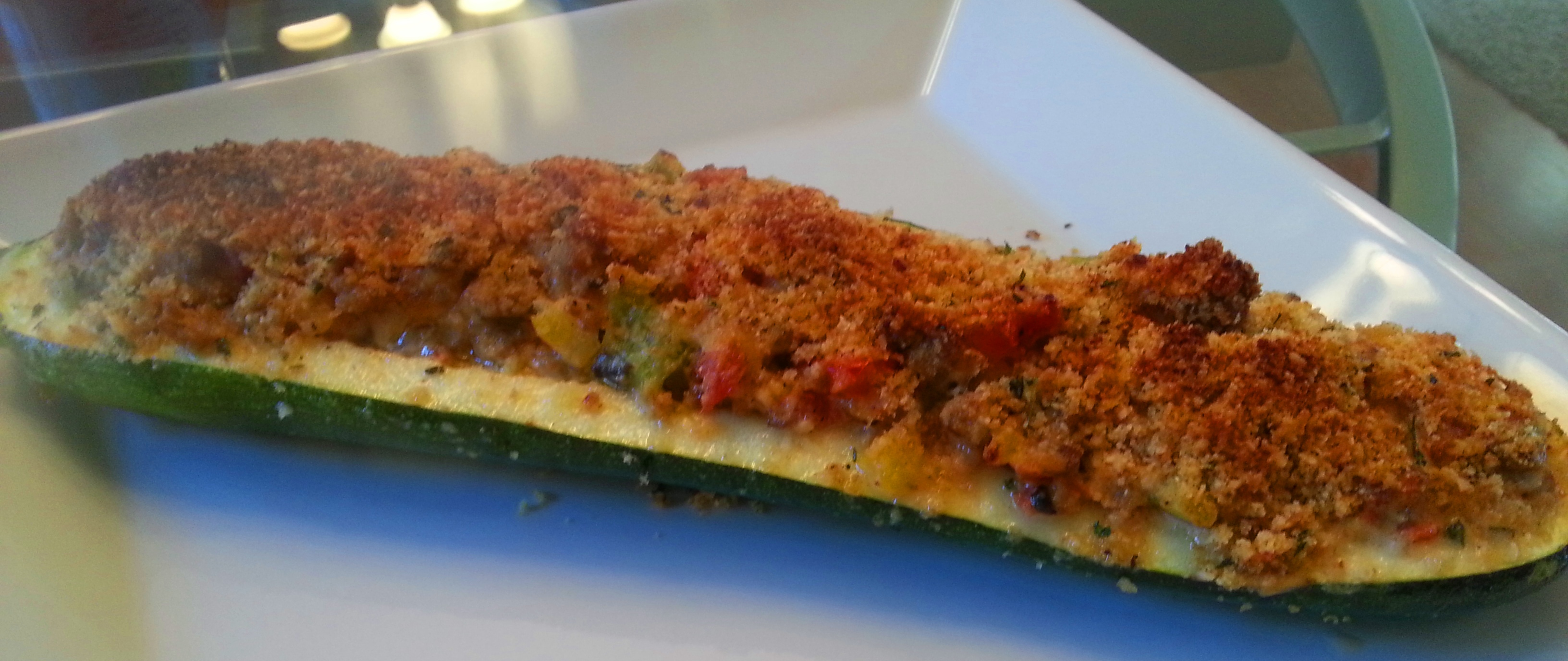 Low Carb Sausage Stuffed Zucchini Boats | Simple2Something